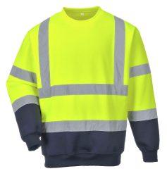 Portwest Kéttónusú jól láthatósági pulóver