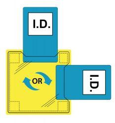 Portwest Dupla azonosítókártya tartó - varrható vagy ragasztható (50 db)