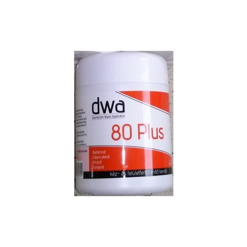 DWA 80 Plus kéz- és felületfertőtlenítő kendő (40db/doboz)